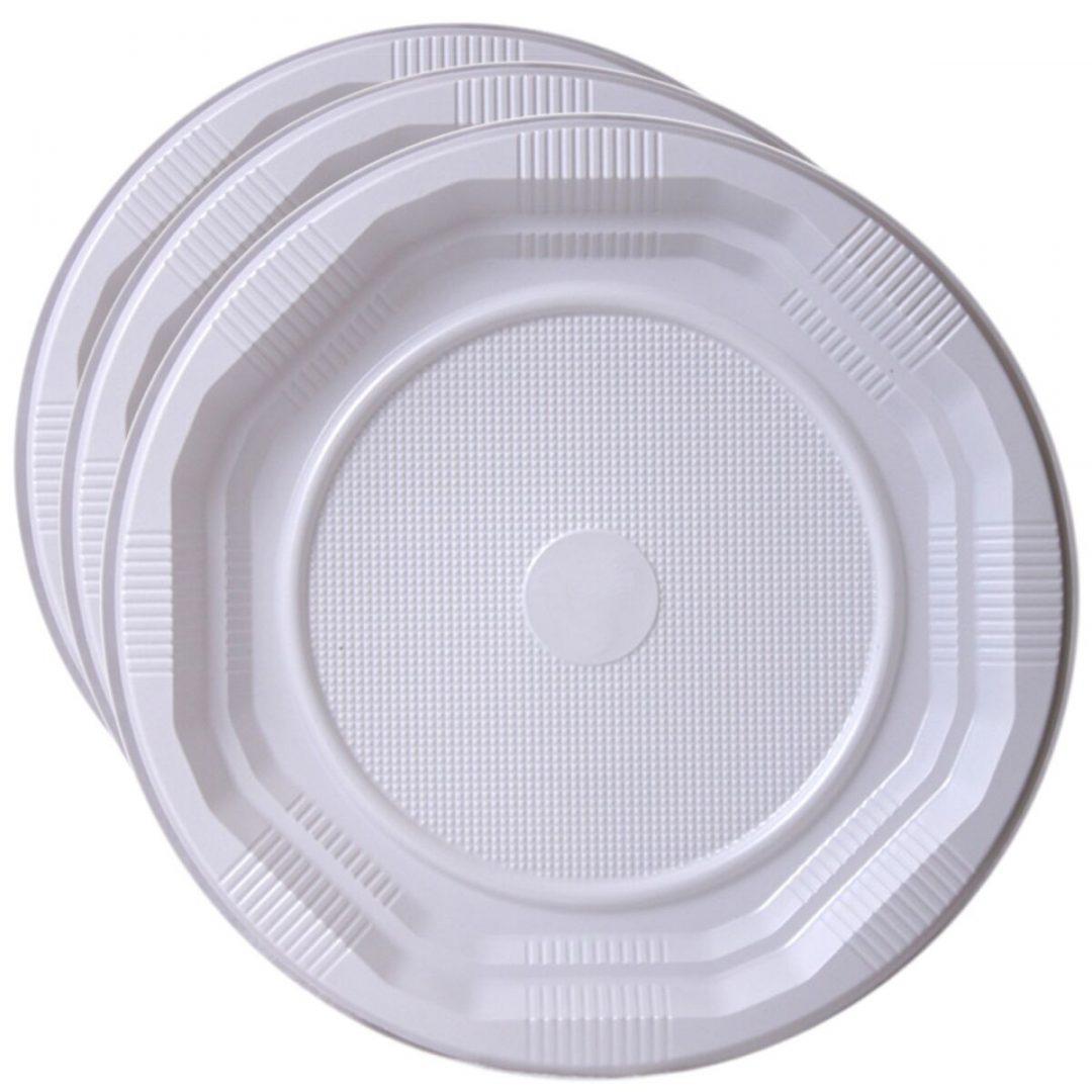 assiettes plastique jetable