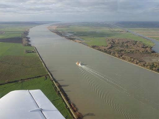 L'estuaire de la Seine en aval du Pont de Tancarville