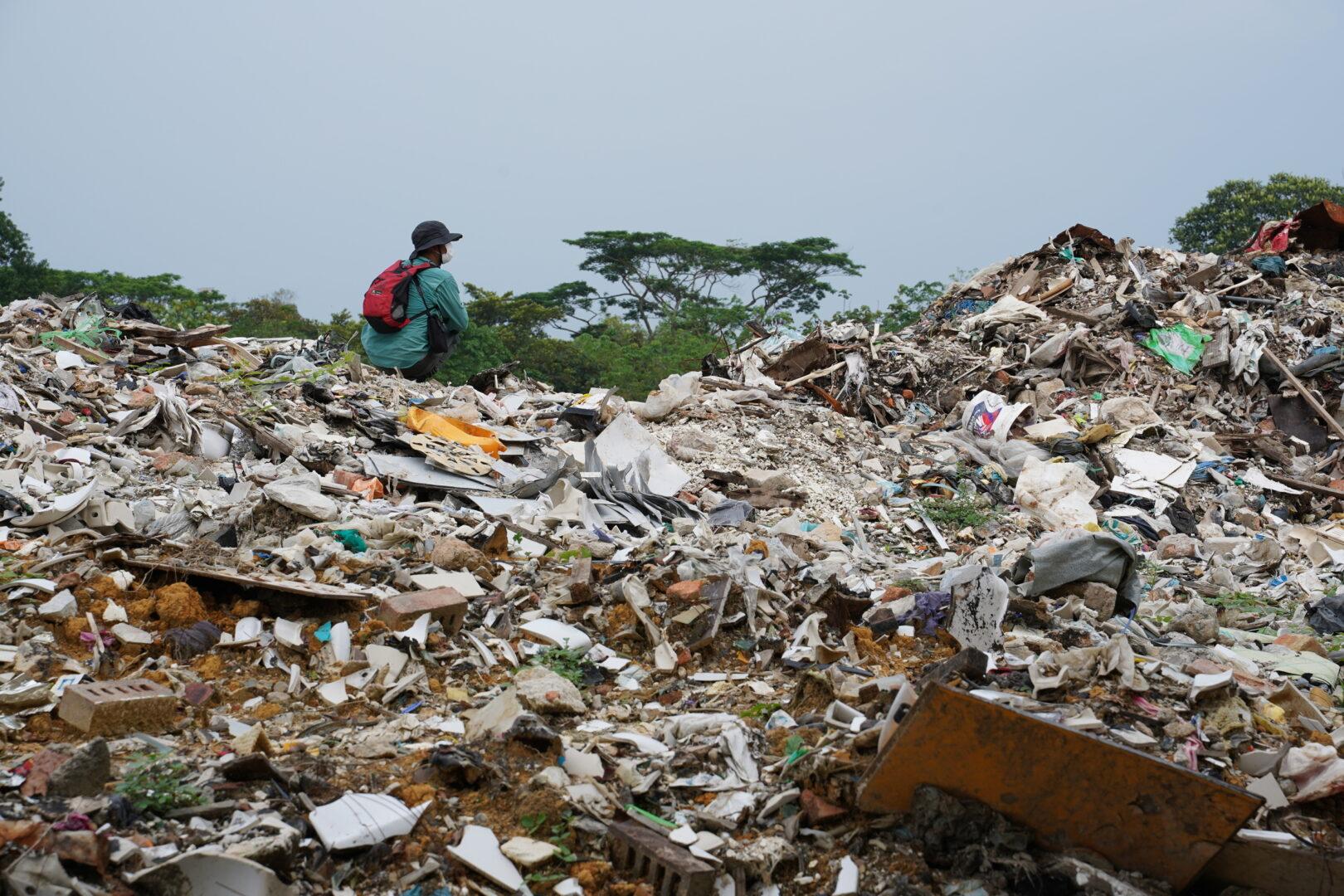 décharge de déchets plastiques à Johor (Malaisie)