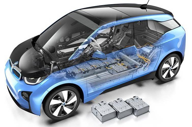 Voiture électrique batteries au lithium