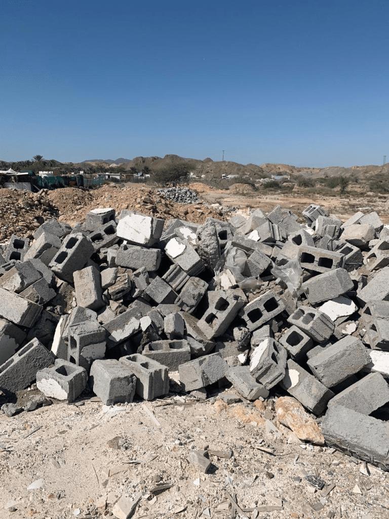dépôt sauvage de déchets BTP