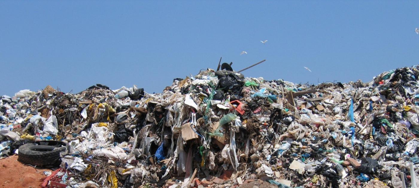 site d'enfouissement des déchets