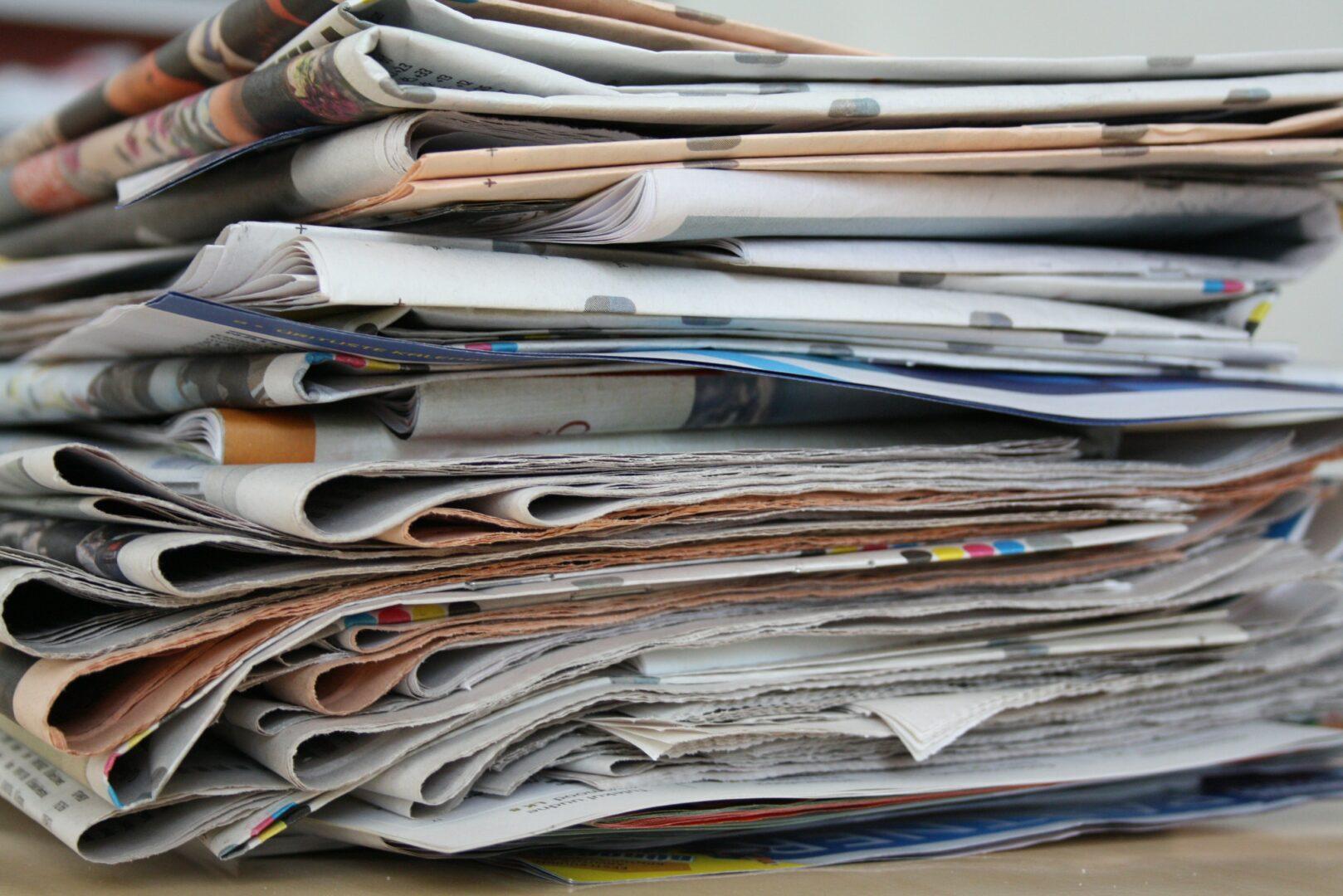 Journaux à recycler