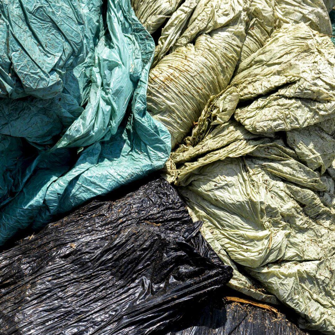Emballages plastiques collectés par Adivalor