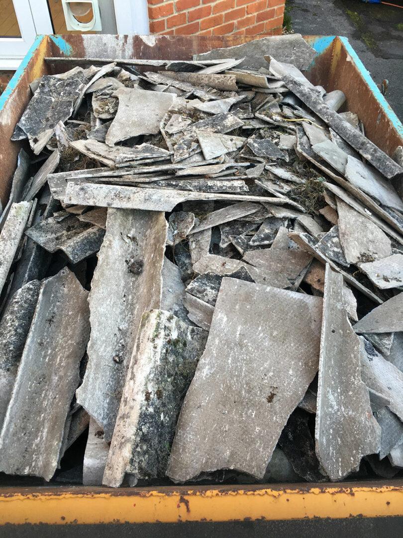 déchets d'amiante