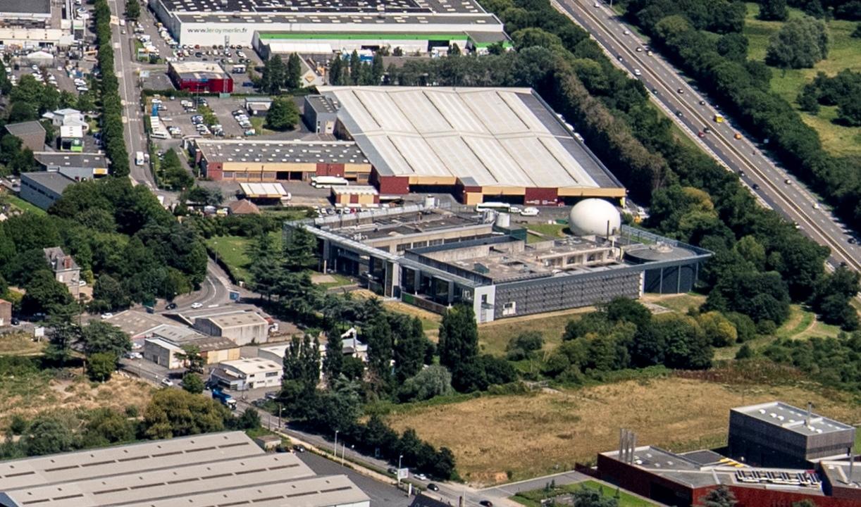 photo aérienne de l'agglomération et de l'estuaire
