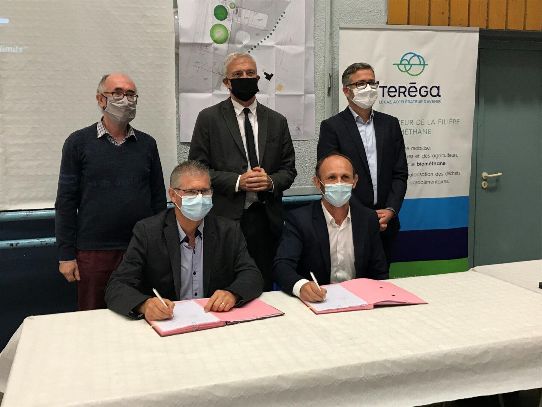Signature entre Téréga et AgriEnergie