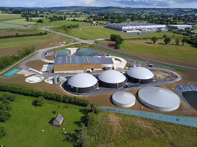 Unité de biométhanisation construite par Weltec en Normandie